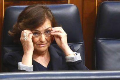 Carmen Calvo pide nuevos sacrificios a los ciudadanos mientras el Gobierno no adopta ni una sola medida útil en Barajas