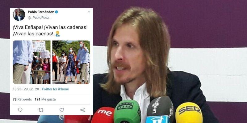 Un dirigente de Podemos se come un soberano bulo, lo difunde y se ríe del barrio más pobre de España
