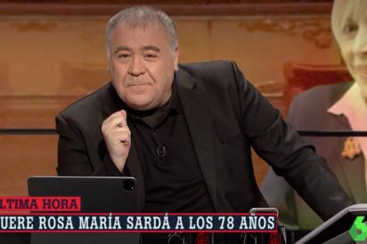 """Ferreras y otros famosos, muy tocados con la muerte de Rosa María Sardá: """"Era un huracán, era tremenda"""""""