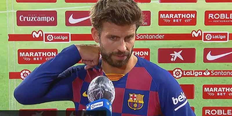 """Despierta la sorna de Piqué: """"He visto ya las jornadas y va a ser muy difícil que el Madrid pierda puntos"""""""