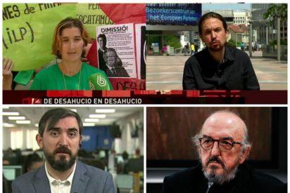 La retorcida fórmula de los diarios de Escolar y Roures para tapar los desahucios de viviendas con el Gobierno Sánchez-Iglesias