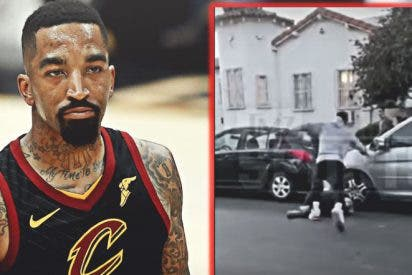JR Smith, jugador de la NBA, sacude una paliza a un manifestante por romper la ventanilla de su coche