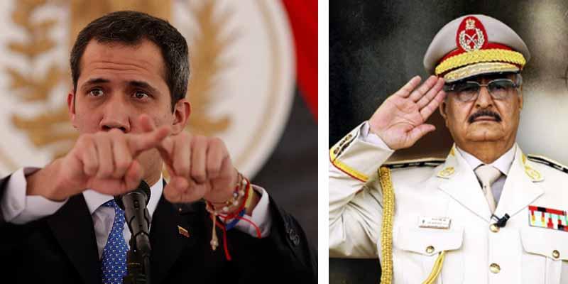 Juan Guaidó alerta al mundo de la llegada a Venezuela del rebelde libio Jalifa Haftar, 'el nuevo Gaddafi'