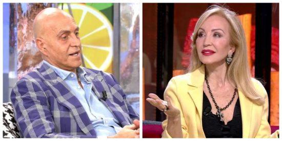 Carmen Lomana exige 50.000 euros a Kiko Matamoros pero el colaborador pone una excusa absurda para no pagar