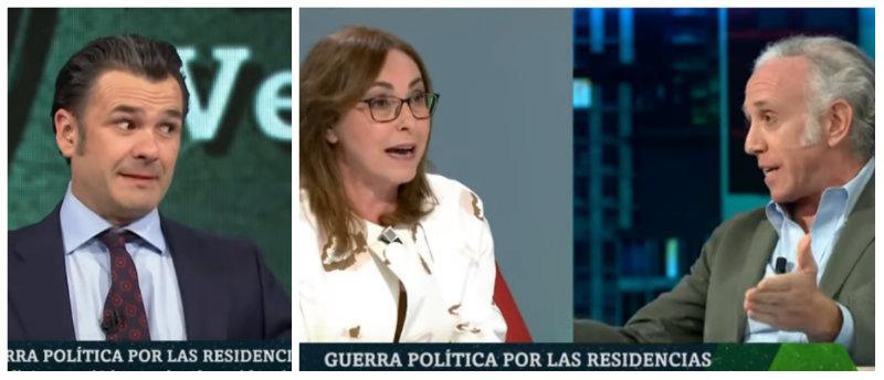 Inda pone de los nervios a Rubio y López con los datos que avalan la gestión de Ayuso en las residencias de mayores