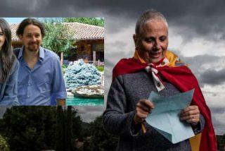 Multan a una ciudadana con 600 euros por pasar tres veces frente al casoplón de Iglesias con la bandera de España