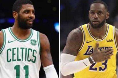 """Kyrie Irving y otras estrellas se suman contra LeBron James para suspender la NBA: """"Solo sería una distracción"""""""