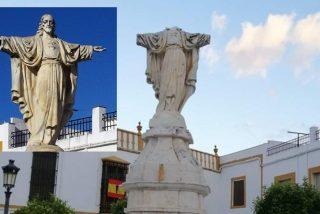 Cristo, mutilado y profanado en La Roda