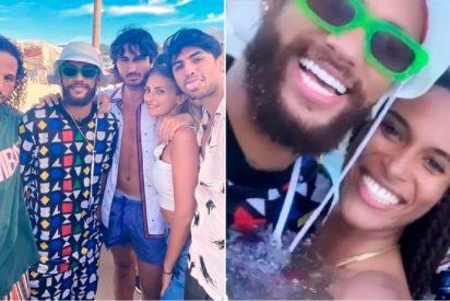 La gran juerga Neymar y Verrati con modelos de Victoria's Secret en la Costa Azul