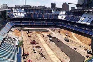 Así luce el 'nuevo' Santiago Bernabéu: sin césped y con una cueva enorme