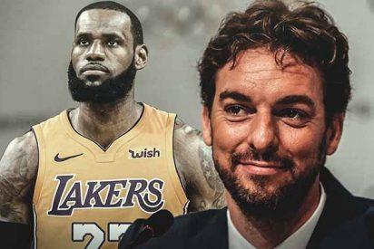 Pau Gasol, LeBron James y 'La Ceja' Anthony Davis: El tridente que mete miedo en la NBA