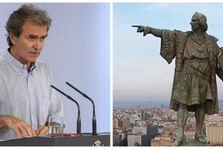 """La genialidad condensada en un tuit: """"¡Quiten la estatua de Colón, el descubridor y pongan la de Fernando Simón, el encubridor"""""""