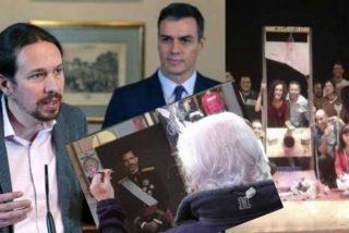 Dardos contra el Rey, guillotina para Rajoy y enaltecimiento del terrorismo: tres casos que no escandalizan a Sánchez ni a Iglesias