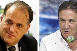 """De la Morena pregunta a Tebas por """"la extorsión"""" del Gobierno para el regreso del fútbol: """"Un sablazo de 200 millones"""""""
