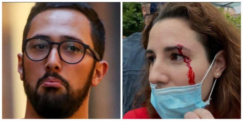 El condenado Valtonyc jalea la pedrada a Rocío de Meer y las amenazas de muerte a Santiago Abascal