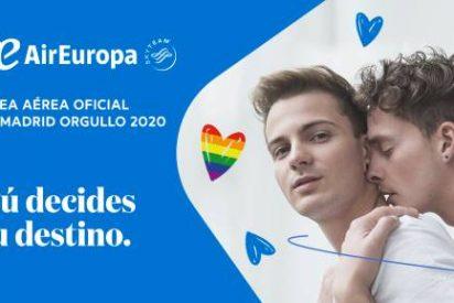 Air Europa, línea aérea oficial del primer Orgullo LGTBI virtual