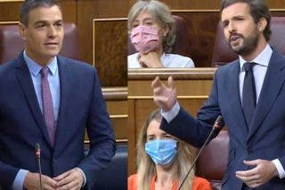 """Casado le arroja a Sánchez las vergüenzas del PSOE y de su Gobierno: """"Para su vicepresidente Iglesias, Felipe González es ultraderecha"""""""
