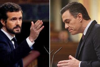 Pablo Casado le lanza a la cara a Sánchez sus dos años de 'presidencia fake':