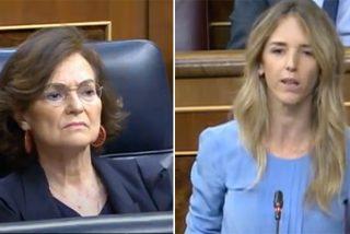 Cayetana acorrala a Calvo: Ustedes legitiman y consienten a los golpistas mientras ultrajan a los demócratas