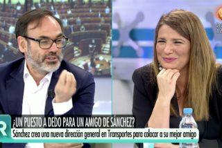 María Claver pone de los nervios a Fernando Garea con el último 'enchufado' de Sánchez
