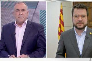 La 'TVE3' de Enric Hernández y Rosa María Mateo: Pere Aragonés (ERC) impone la retórica 'indepe' y Fortes mira para otro lado