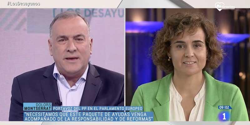 Elegante reprimenda de Dolors Montserrat (PP) a Fortes por comprar el argumentario de Moncloa y Sánchez