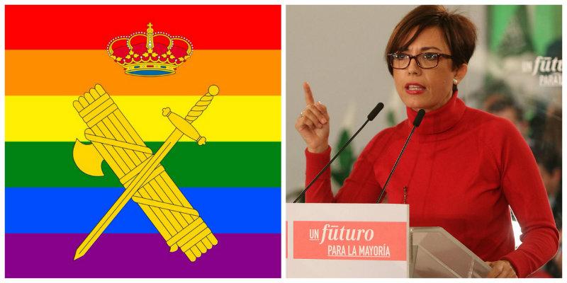María Gámez incendia Twitter con la nueva foto del perfil de la Guardia Civil