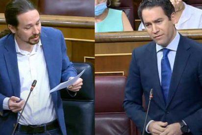 """García-Egea (PP) zarandea a Iglesias por el 'caso Dina': """"¿Por qué sí atendía a los filtradores de sus 'cloacas' y no a las residencias?"""""""