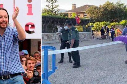 """La cloaca de Podemos ataca a la Guardia Civil por órdenes de Iglesias: """"Son permisivos con los que se manifiestan frente a su chalet"""""""