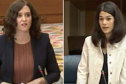 Díaz Ayuso 'barre' a Isa Serra y demás podemitas del Pleno: