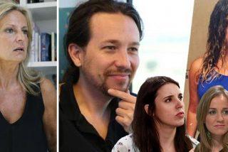 """Sensacional trastazo de Isabel San Sebastián a los líos de faldas de Pablo Iglesias: """"Da para guión de película mala de los setenta"""""""