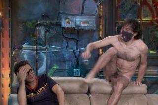 """Un hombre desnudo sorprende a Berto Romero en 'La Resistencia': """"Esto sí ha sido distancia de seguridad"""""""