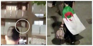 El Quilombo / Los okupas de Premià de Mar se cachondean de los vecinos envueltos en banderas de Argelia