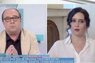 """Soberbio estacazo de Díaz Ayuso a Maraña y Fortes en TVE: """"Ponéis la lupa en Madrid y no en Sánchez por activismo"""""""