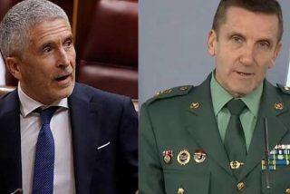 """Marlaska premia al general que destacó los esfuerzos de la Guardia Civil por """"minimizar"""" los bulos contra el Gobierno"""