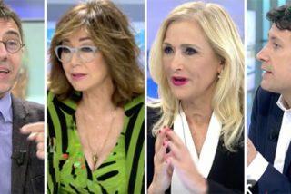 Monedero se vuelve loco contra Felipe González y acaba 'apaleado' en Telecinco
