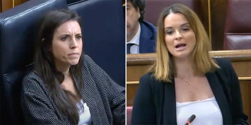 "Bestial reprimenda de una diputada del PP a Irene Montero: ""¡Usted jugó a la ruleta rusa con miles de mujeres!"""