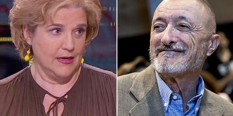 "Pérez-Reverte 'saca la guillotina' contra la manipuladora Pilar Rahola: ""Pasó sin ducharse de la política al periodismo"""