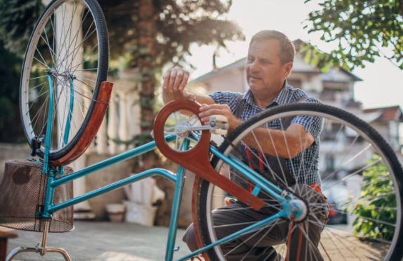 limpiar la bicicleta