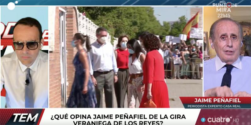 Jaime Peñafiel aprovecha una terrible idiotez para atacar gratuitamente al Rey Felipe en TV