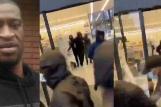 Destrozos en mobiliario y varios vehículos y saqueo de un supermercado en Gerona para 'vengar' a George Floyd