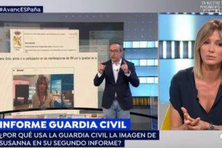 La inaudita reacción de Susanna Griso al descubrir que aparece en el informe de la Guardia Civil del 8-M