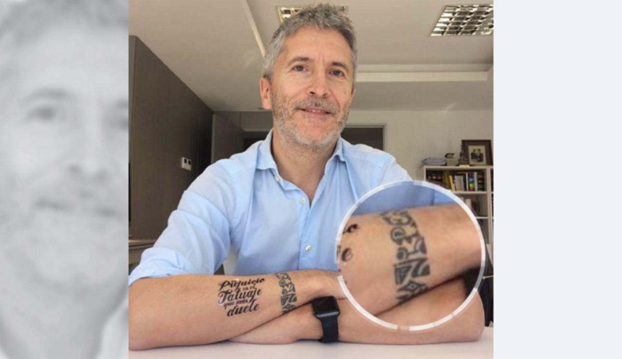 Ofensa: el tatuaje de Grande-Marlaska que indigna a miles de agentes y humilla a la Guardia Civil