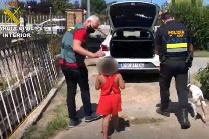 La Guardia Civil rescata en una carretera a una niña de 7 años abandonada por el 'novio' de su madre