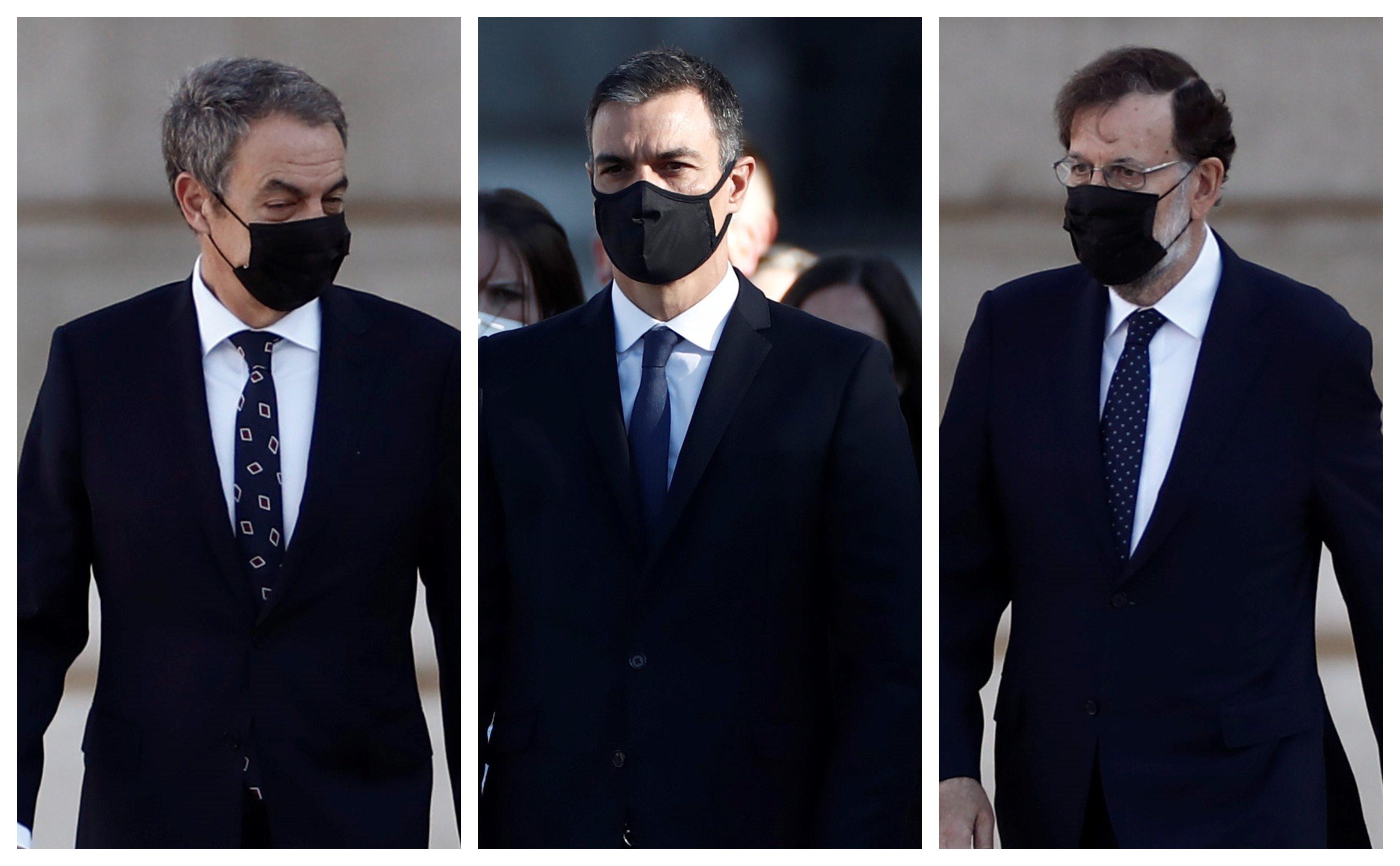 La sobrecogedora imagen con Sánchez, Rajoy y Zapatero que jamás pensamos que veríamos