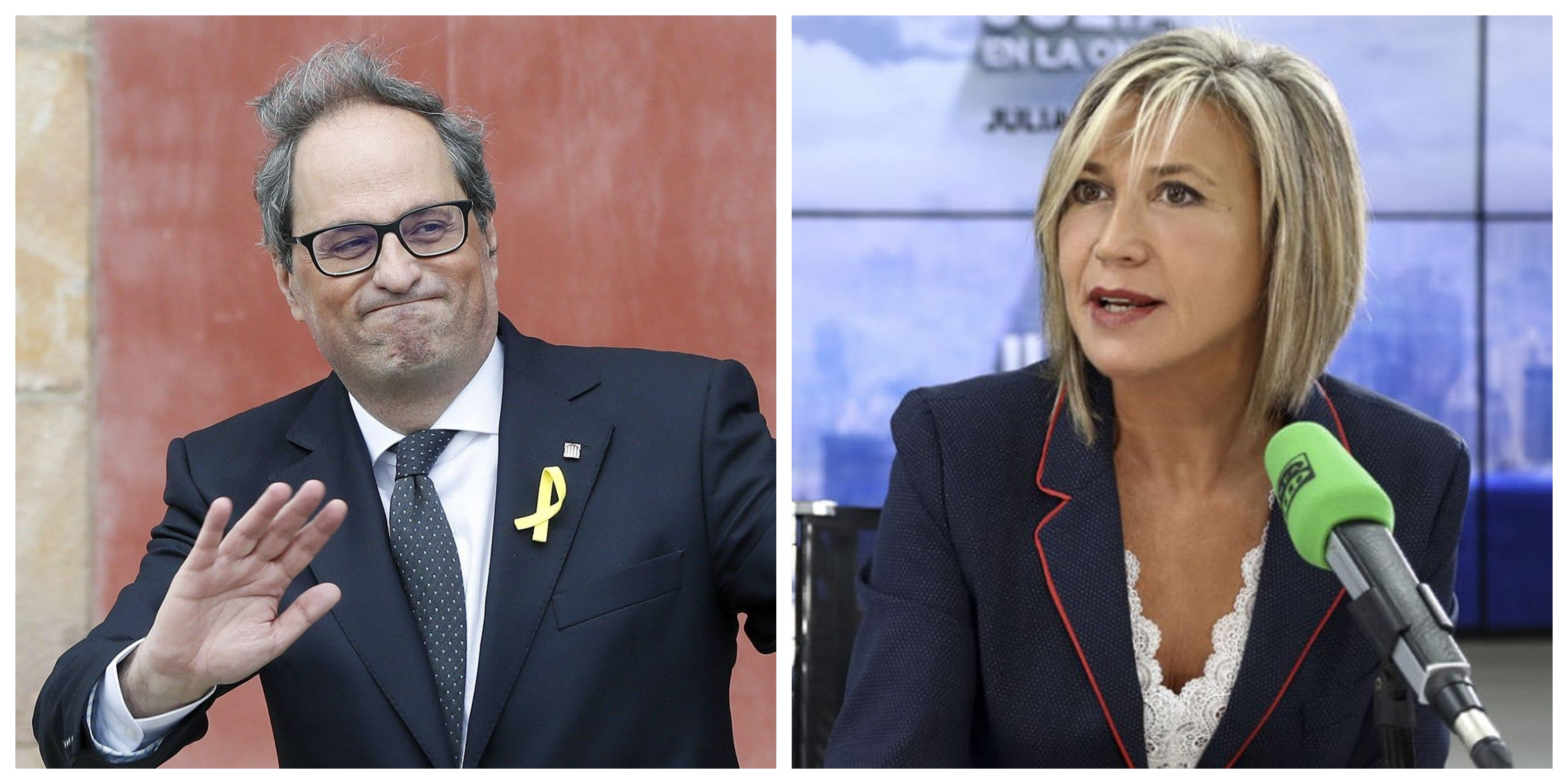 """Julia Otero en guerra contra Torra y la gestión del coronavirus en Cataluña: """"¿Madrid nos roba?"""""""