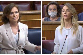 """Cayetana Álvarez de Toledo 'apalea' una vez más a Carmen Calvo: """"Ahórrense sus campañas antimonárquicas para engendrar una república"""""""