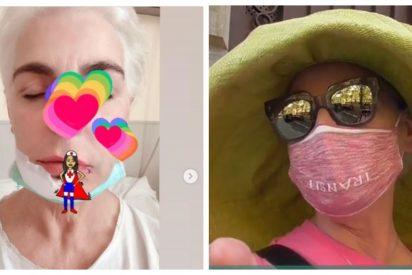 Antonia Dell'Atte reaparece después de sufrir un accidente con una sombrilla que le destrozó la mandíbula