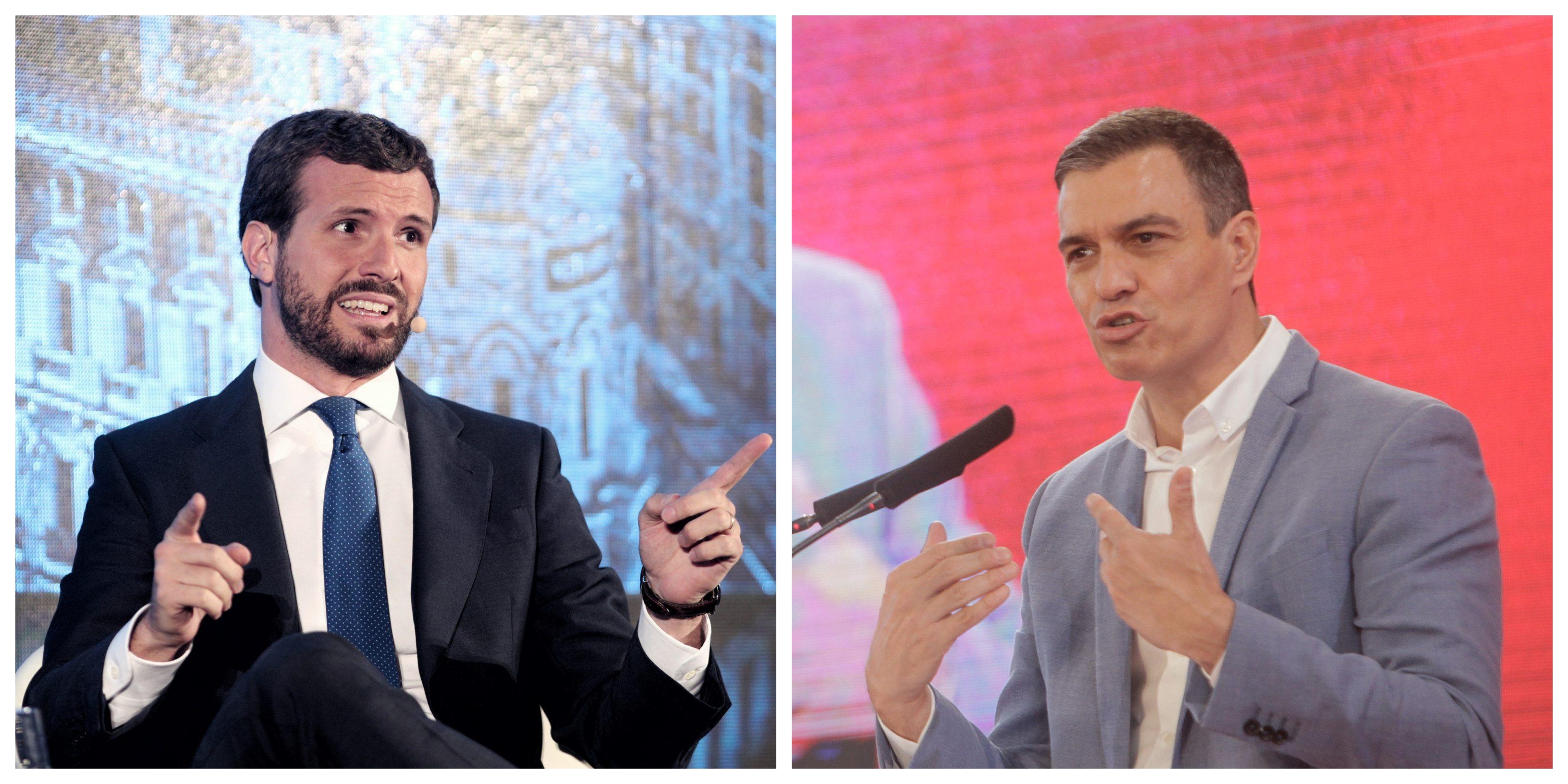 """Casado refleja el cinismo de un Pedro Sánchez que confiesa en Italia que jamás pactará con el PP: """"Aquí nos acusa falsamente de crispar"""""""