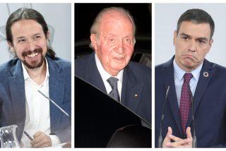 Iglesias aprovecha la situación de Don Juan Carlos para arrastrar a Sánchez en su obsesión por hacer caer la Monarquía